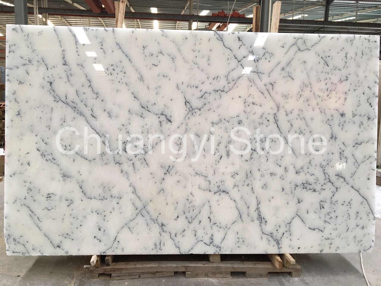 Crystal Alabaster/Snow White/Statuario Altissimo/White Marble Slab