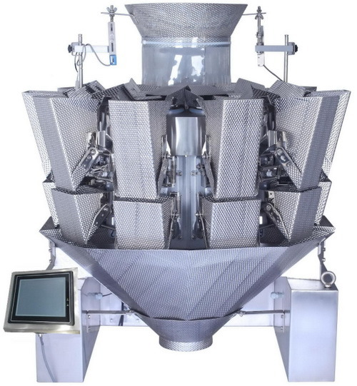 Wet Products Automatic Weighing Machine 10 Heads Multihead Weigher Jy-10hdt
