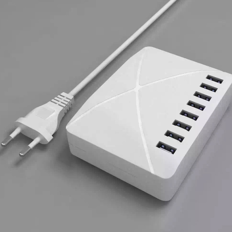 8 USB Smart Charger 10000mA Fast Charging Phone Charger
