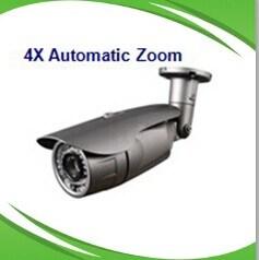 Vandal CCTV Zoom Camera *4X Zoom Lens IR LEDs 42PCS