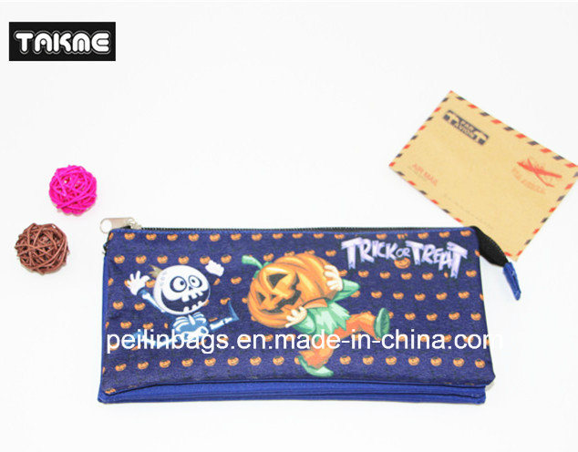 Cartoon Printing Triple-Layer Pencil Bag for Child