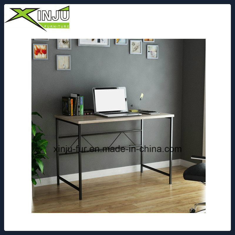Wooden Computer Desk with Stainless Steel Frame