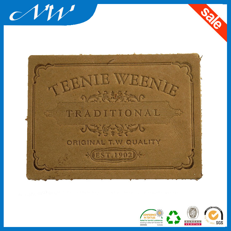 Fashion Jeans Leather Patch Custom Jeans Leather Label