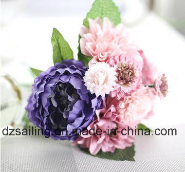 Decoration Artificial Flower of Peony and Dahlia Bouquet (SF16399)
