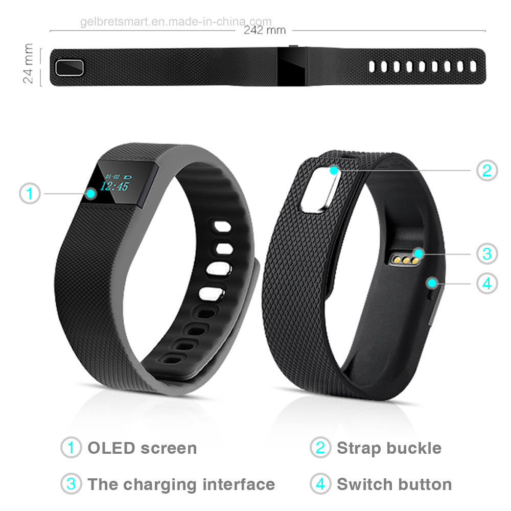 Gelbert Hotsale Tw64 Smart Sports Bracelet with Waterproof