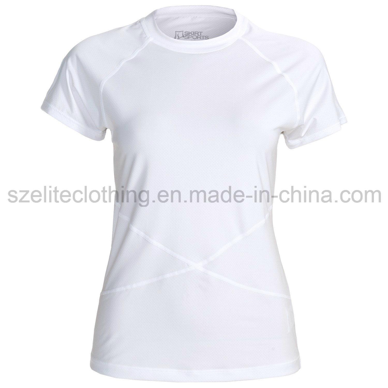 Women White Stretch T-Shirts (ELTWTJ-109)