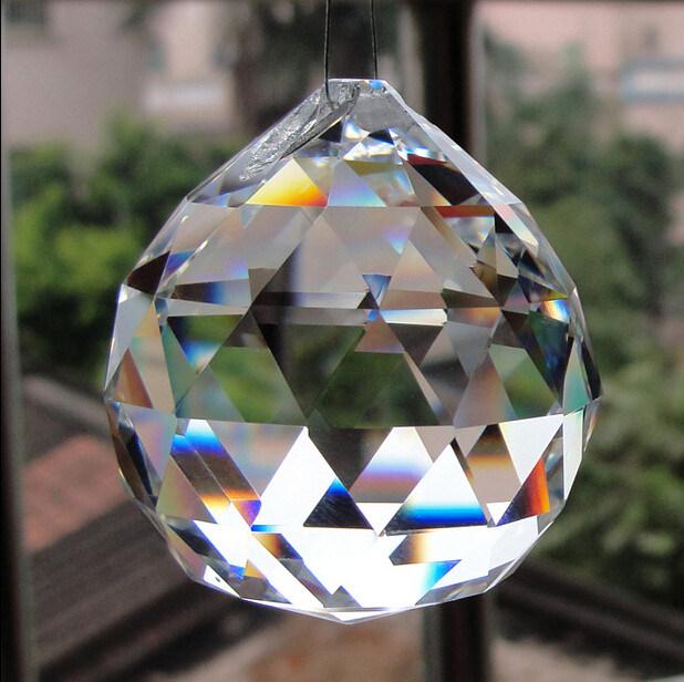 Machine Cut Crystal Glass Chandeliers Ball Pendant Lighting Accessories