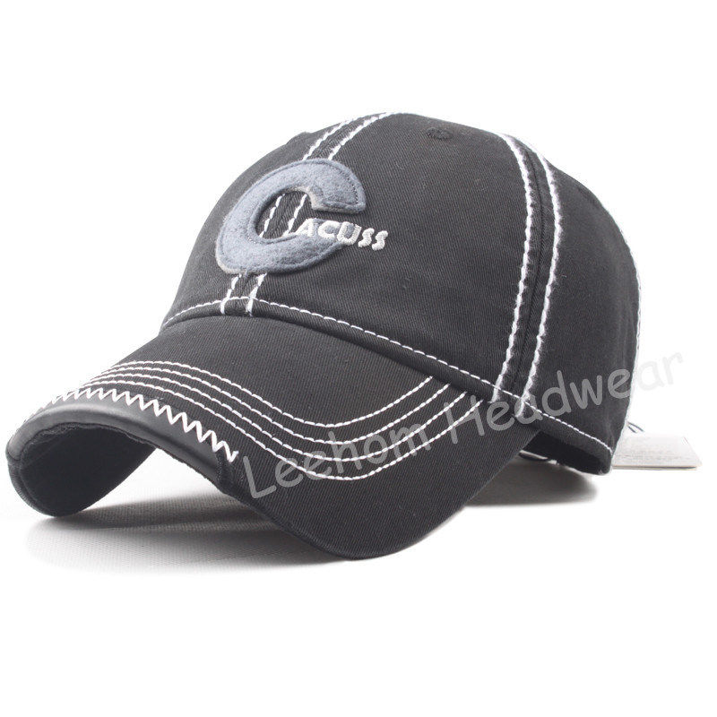 Washed Felt Embroidery Baseball Custom Cap