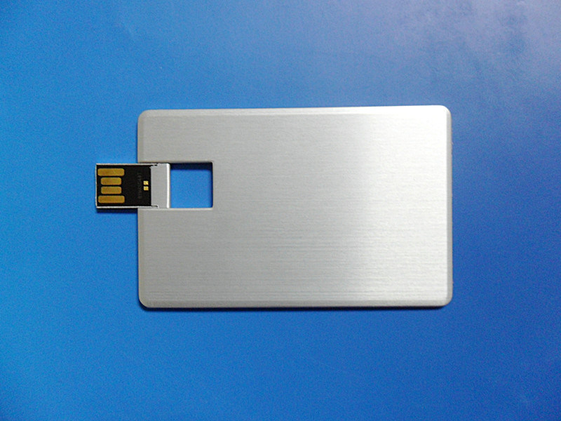 High Quanlity Aluminum Wafer Credit Card USB Pen Drive in 8GB, 16GB, 32GB