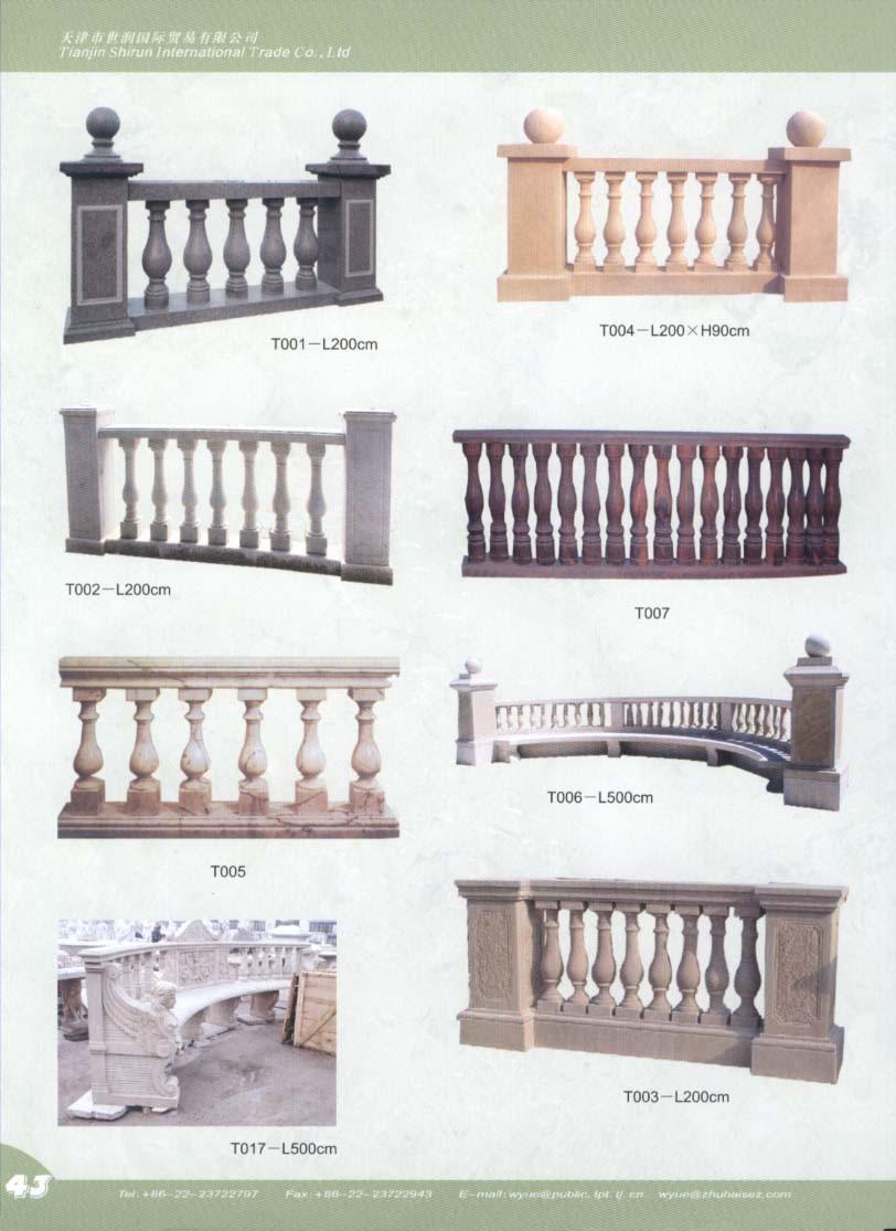 Balaustre di marmo asta della ringhiera di marmo for La migliore casa progetta lo stile indiano