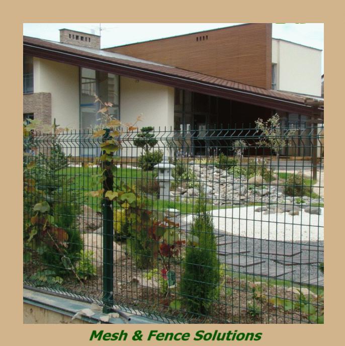112 cerca para jardim de metalPainel revestido PVC verde da cerca do