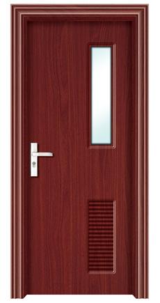 Puerta de la chapa del pvc para el cuarto de ba o puerta for Modelos de puertas de bano de madera