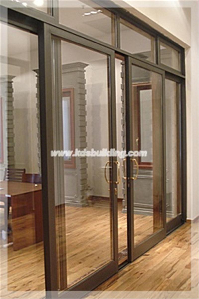 Interior de aluminio puerta corrediza de vidrio kdssd036 for Puerta corrediza de aluminio
