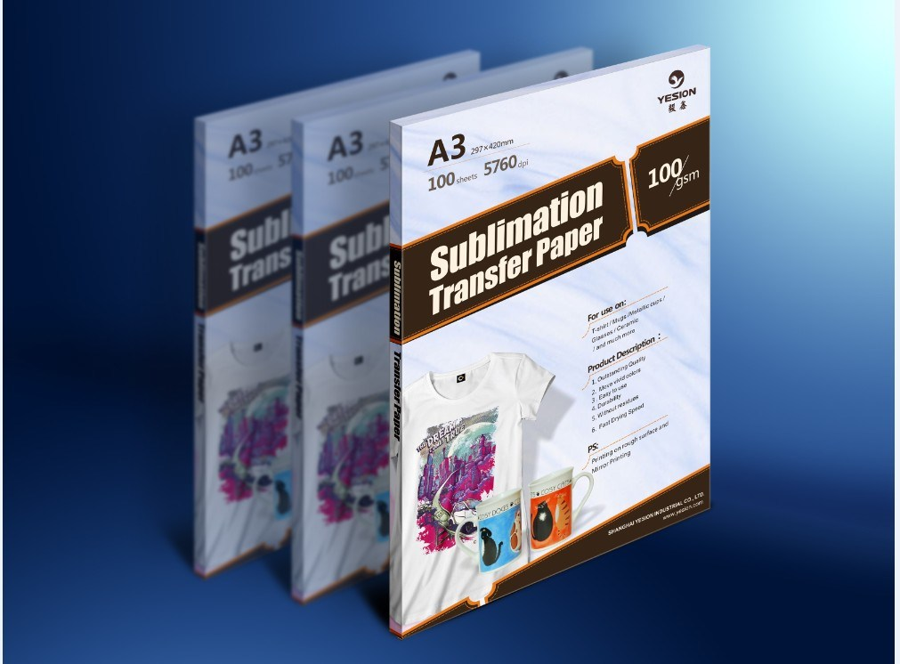 100gsm adhesivo transfer papel para sublimaci n 100gsm for Papel adhesivo pared