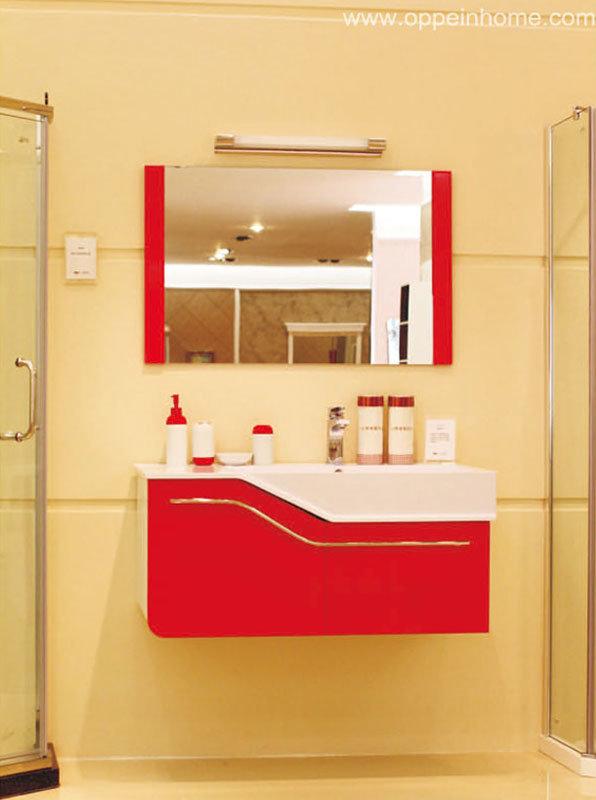 Armário de parede vermelho do banheiro da laca (OP11021100) –Armário de par -> Armario De Banheiro Pequeno Vermelho