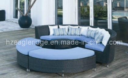 Sof redondo del pcs de los muebles de los muebles al aire for Sofa exterior redondo