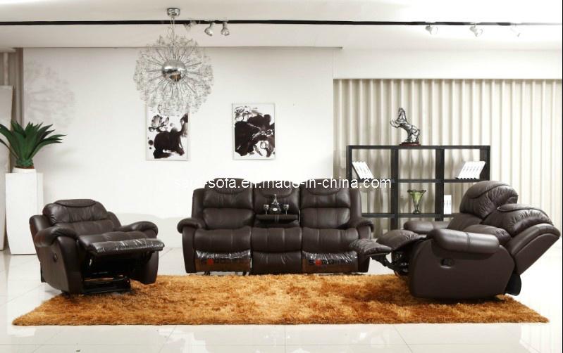 Muebles de cuero de la sof recliner sala de estar - Muebles de salita de estar ...