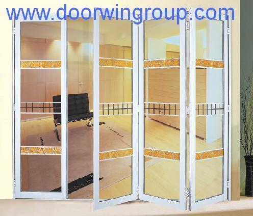 Puertas bifold de aluminio esmaltadas doble puertas - Puertas de acordeon ...