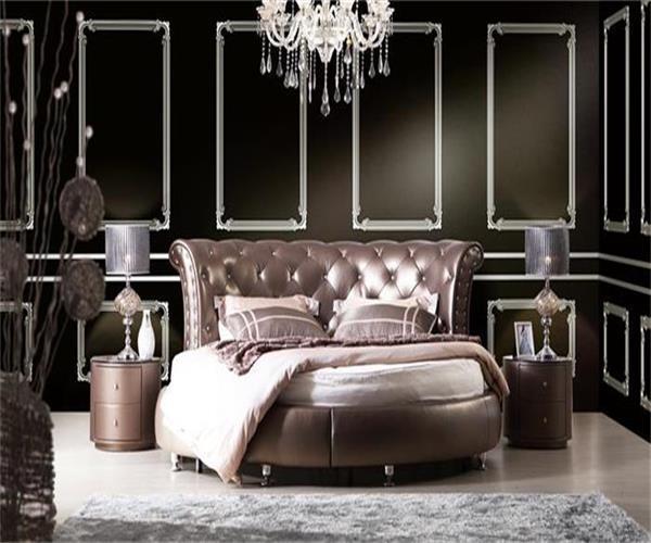Modele De Lit En Bois Rond : Meubles de chambre ? coucher – lit en cuir rond 1001# ?Meubles de