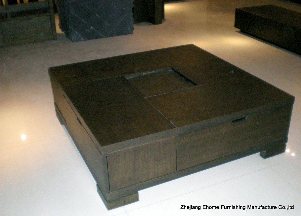 Mesa de centro funcional quadrada mm l209 mesa de for E home products