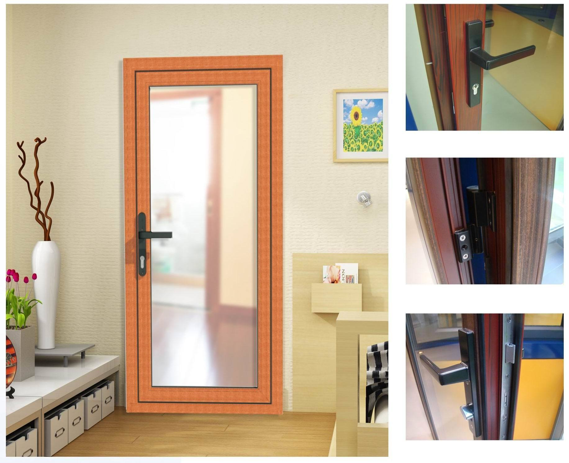 puerta de aluminio del marco lm58 puerta de aluminio