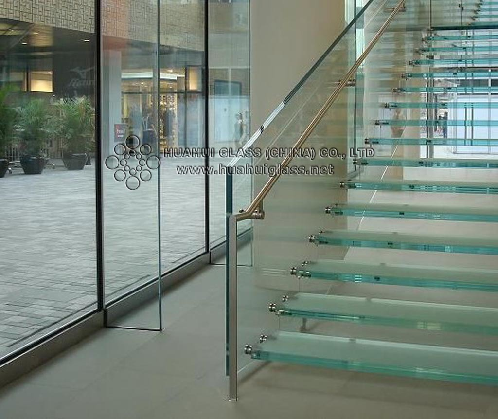 Vidrio de la escalera vidrio de la escalera proporcionado por huahui glass china co ltd a - Escalera de vidrio ...