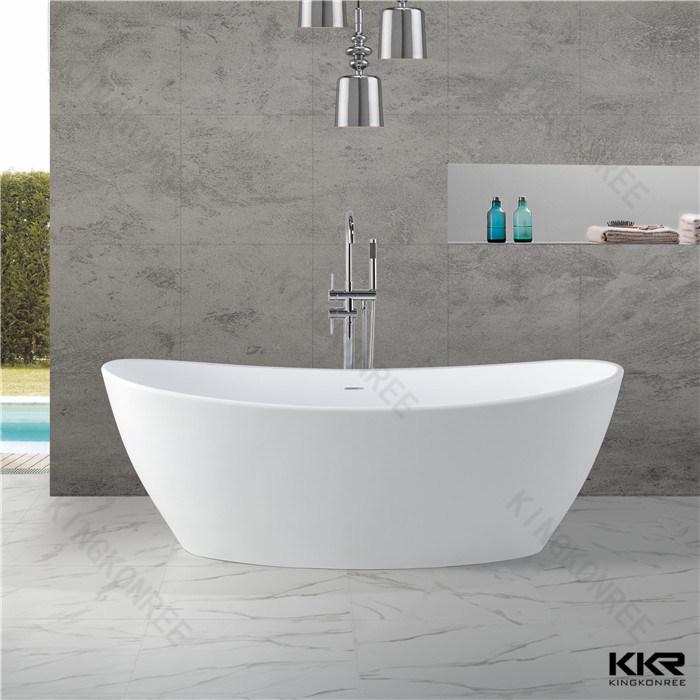 Vasca da bagno indipendente della vasca della pietra della resina acrilica piccola foto su it ...