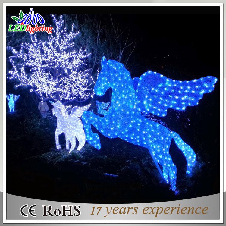 Lumière décorative dhorizontal de cheval de Noël solaire extérieur de la décoration DEL