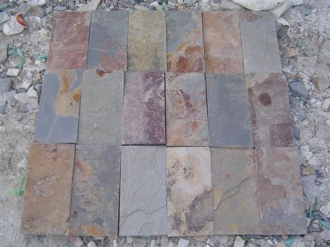 Pared que suela la piedra oxidada de la pizarra r stica - Piedra pizarra oxidada ...