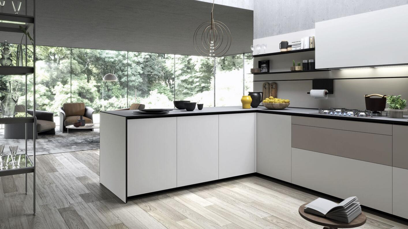 Module de cuisine moderne accessible de laque de constructeur ...