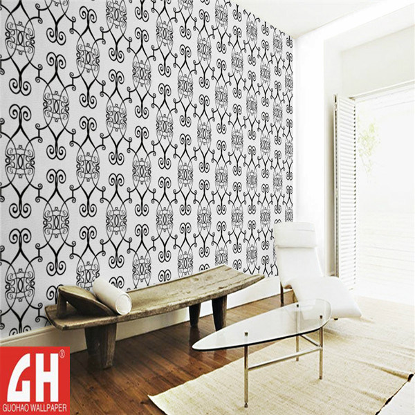 Papel pintado decorativo blanco y negro cl sico para la barra papel pintado decorativo blanco - Papel de pared blanco y negro ...
