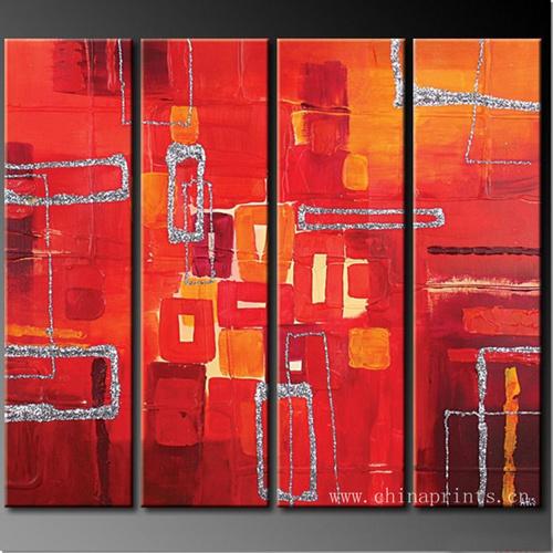 Pintura Acr Lica Abstrata Moderna Na Lona Pintura