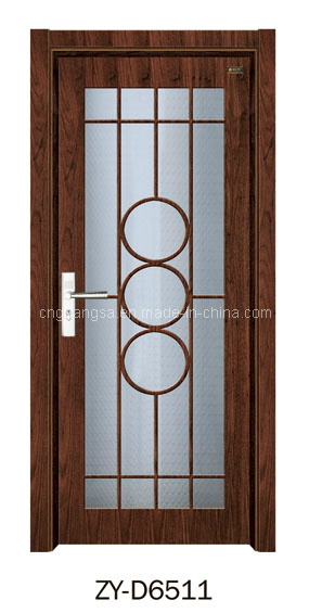 Puerta de madera interior con el vidrio puertas de madera for Puertas interiores de madera con vidrio