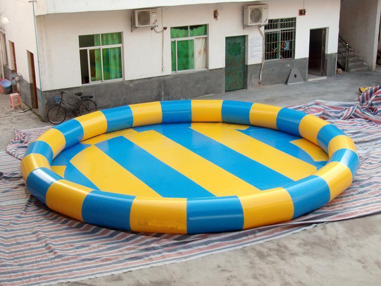 Groot opblaasbaar rond zwembad met ce goedgekeurd sgs xz for Groot rond zwembad