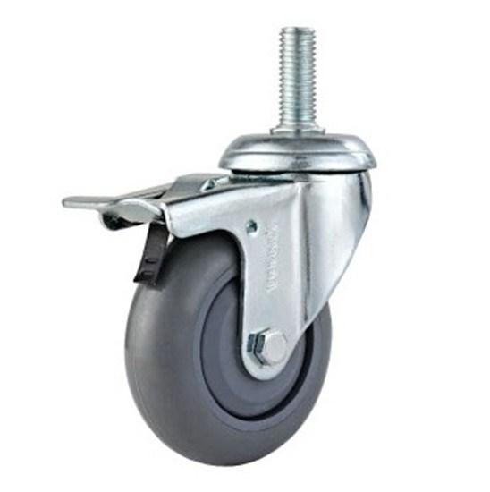 roulette de caddie plat de fil avec le frein total. Black Bedroom Furniture Sets. Home Design Ideas