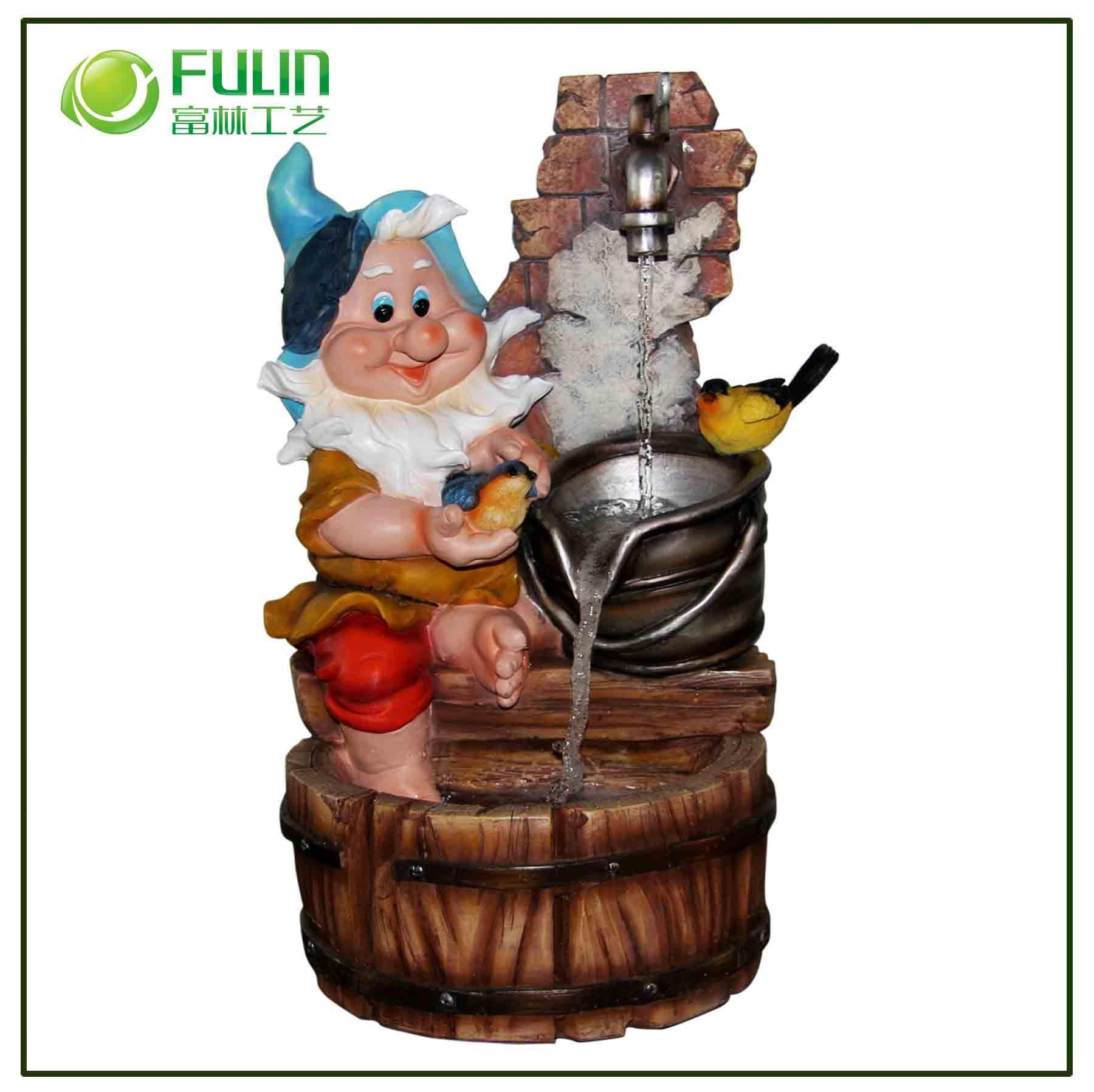Fontaine d corative ext rieure de polyresin de gnome de l - Fontaine decorative exterieure ...