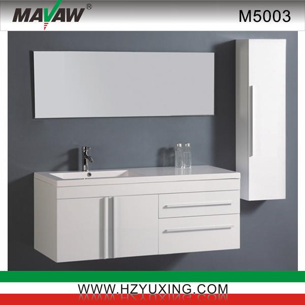 Mobilia bianca m5003 della stanza da bagno del mdf - Cabina bagno prefabbricata ...