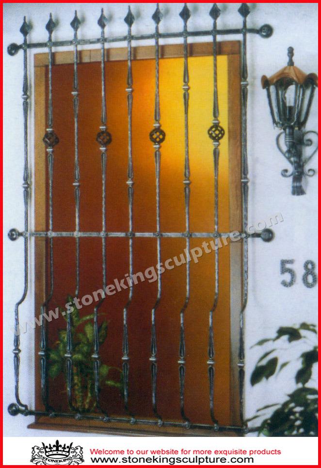 Griglia di finestra del ferro saldato protezione della for Piano del telaio della finestra