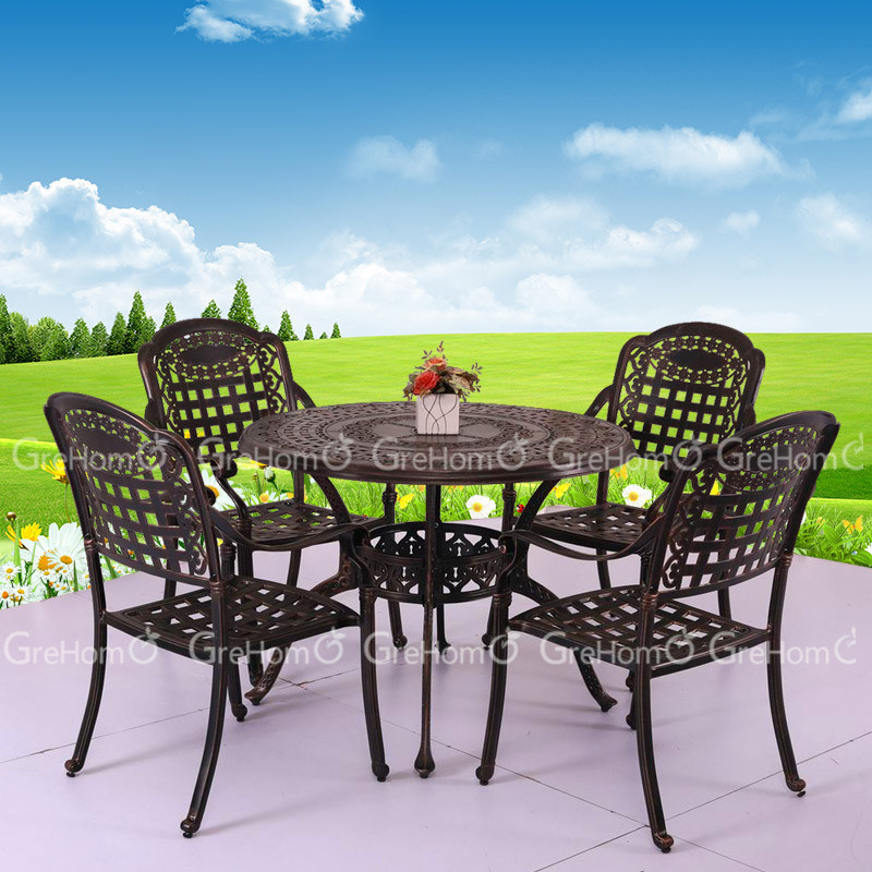 Tabla y silla del jard n de la fundici n de aluminio tabla y silla del jard n de la fundici n for Juego de jardin fundicion aluminio