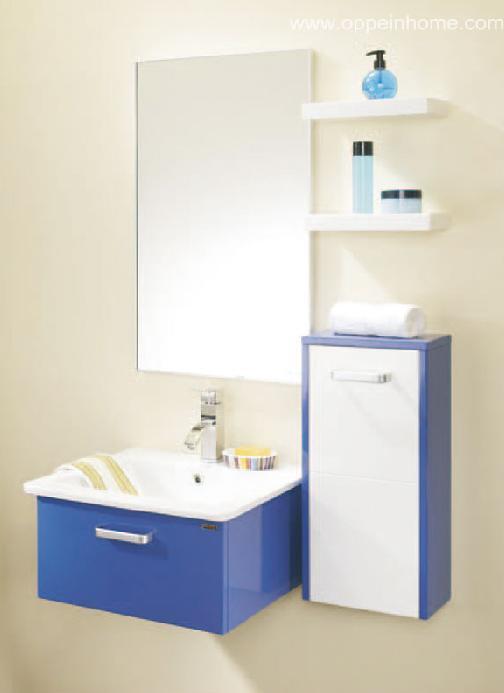 Armário de banheiro azul da laca (OPW1124) –Armário de banheiro azul da laca -> Armario De Banheiro Azul
