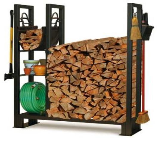 supports en acier de stockage de bois de chauffage supports en acier de stockage de bois de. Black Bedroom Furniture Sets. Home Design Ideas