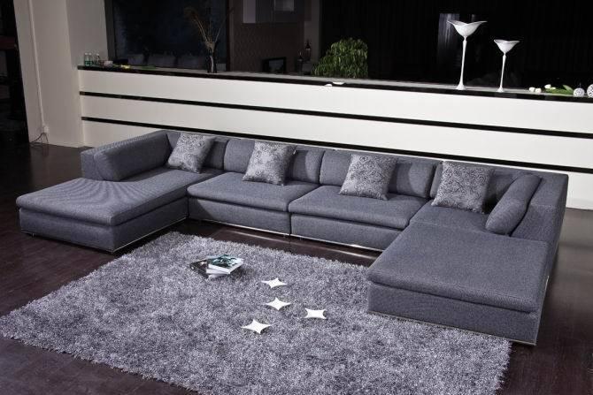 U de bank van de stof van de vorm en de bank van de stoffering a902 2 u de bank van de stof - Sofa van de hoek uitstekende ...