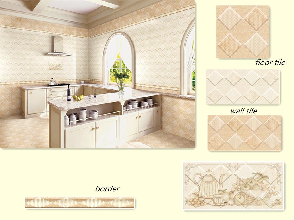 Foto de Beira bege da telha cerâmica da parede do quarto  ~ Revestimento De Parede De Quarto Com Ceramica