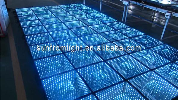 miroir infini modifi led dance floor de la version 3d de sunfrom photo sur fr made in. Black Bedroom Furniture Sets. Home Design Ideas