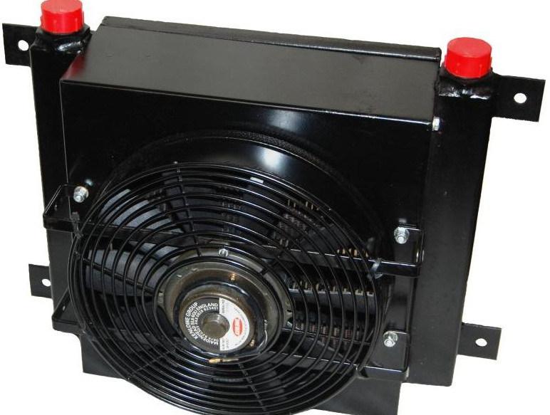 Radiatore dell 39 olio idraulico di cc 12v 24v con il for Ventilatore refrigerante