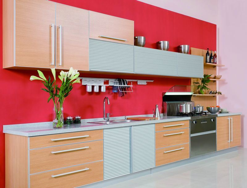 Gabinete de cocina de la melamina pan1110 gabinete de for Modelos de gabinetes de cocina