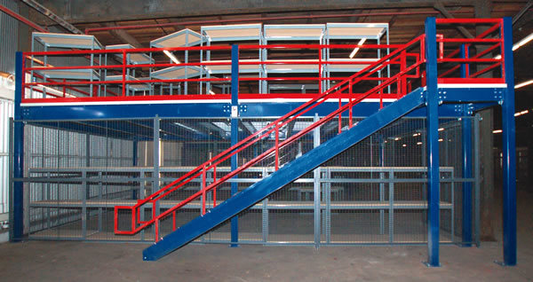 mezzanine van het staal overgegaan ce van het rek van de vloer sm 002 mezzanine van het