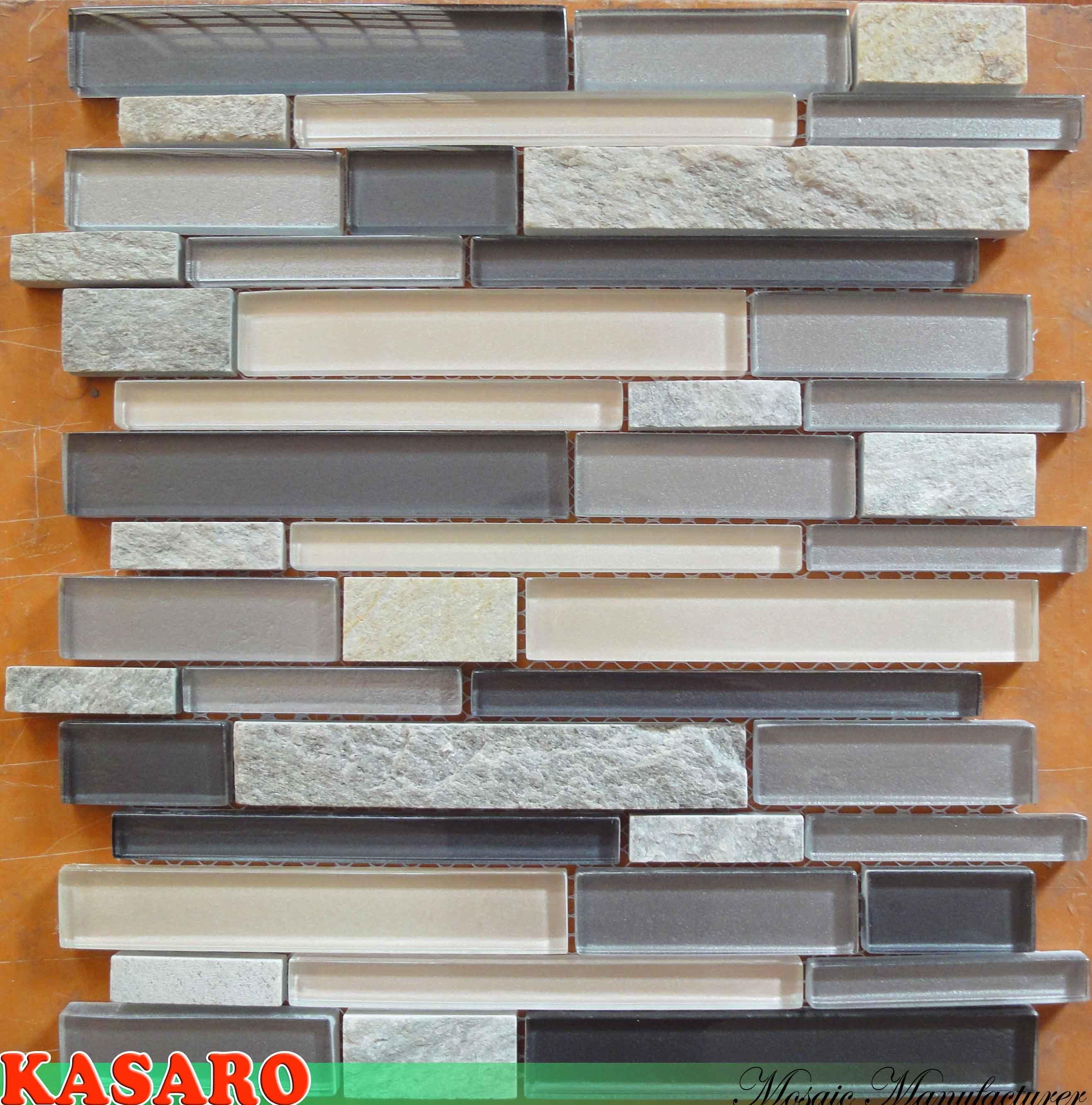 Azulejos Para Baño De Cristal:cuarto de baño del vidrio de mosaico (KSL6677) – Azulejo de cristal