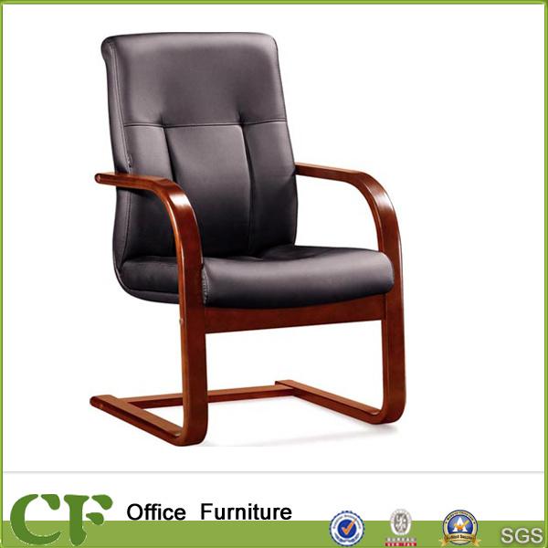 Foto de silla fija de madera maciza oficina reposabrazos - Cuero para tapizar sillas ...