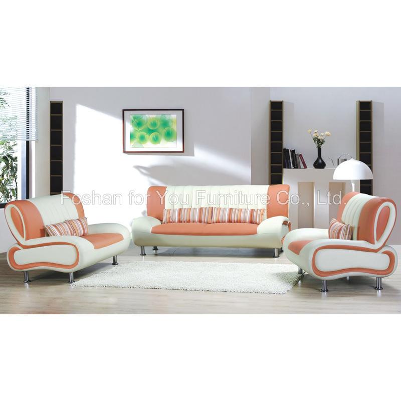 Muebles de la sala de estar sof de cuero del sof 307 for Muebles de sala de cuero